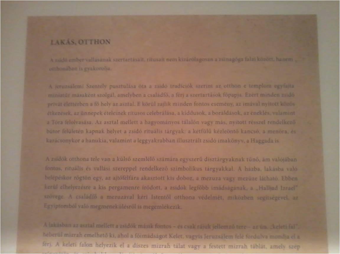 Szakszerűtlen felirat az Óbudai Múzeum egyik szövegében